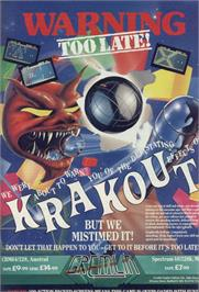 Advert for Krakout on the Sinclair ZX Spectrum.