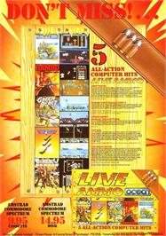 Advert for Live Ammo on the Amstrad CPC.