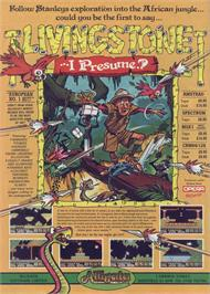 Advert for Livingstone Supongo 2 on the Sinclair ZX Spectrum.