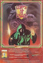 Advert for Lords of Chaos on the Sinclair ZX Spectrum.