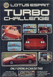 Advert for Lotus Esprit Turbo Challenge on the Sinclair ZX Spectrum.