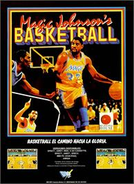 Advert for Magic Johnson's Fast Break on the Sinclair ZX Spectrum.