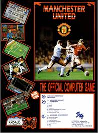 Advert for Manchester United on the Sinclair ZX Spectrum.