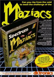Advert for Maziacs on the Sinclair ZX Spectrum.