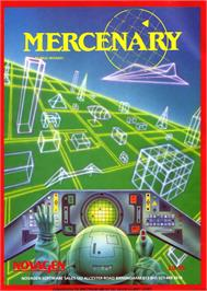 Advert for Mercenary: The Second City on the Atari 8-bit.