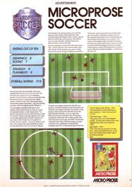 Advert for Microprose Pro Soccer on the Sinclair ZX Spectrum.