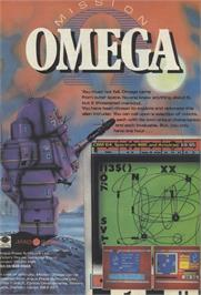 Advert for Mission Omega on the Sinclair ZX Spectrum.