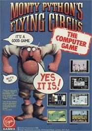 Advert for Monty Python's Flying Circus on the Sinclair ZX Spectrum.