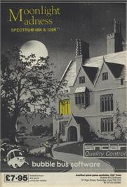 Advert for Moonlight Madness on the Sinclair ZX Spectrum.