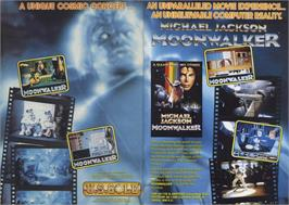 Advert for Moonwalker on the Amstrad CPC.