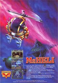 Advert for Mr. Heli on the Sinclair ZX Spectrum.