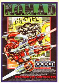 Advert for N.O.M.A.D. on the Commodore 64.