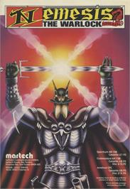 Advert for Nemesis the Warlock on the Sinclair ZX Spectrum.