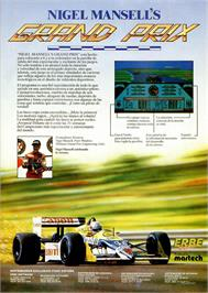 Advert for Nigel Mansell's Grand Prix on the Amstrad CPC.