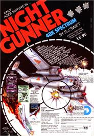 Advert for Night Gunner on the Sinclair ZX Spectrum.