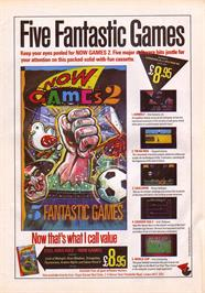 Advert for Now Games 2 on the Sinclair ZX Spectrum.