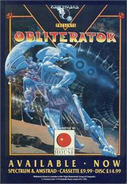 Advert for Obliterator on the Sinclair ZX Spectrum.