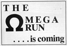 Advert for Omega Run on the Sinclair ZX Spectrum.