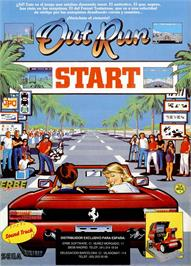 Advert for OutRun on the Sinclair ZX Spectrum.