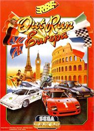 Advert for OutRun Europa on the Sinclair ZX Spectrum.
