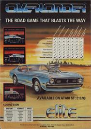 Advert for Overlander on the Sinclair ZX Spectrum.