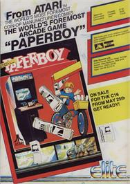 Advert for Paperboy on the Sinclair ZX Spectrum.