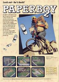 Advert for Paperboy 2 on the Sinclair ZX Spectrum.