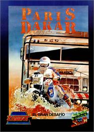Advert for Paris-Dakar on the MSX.