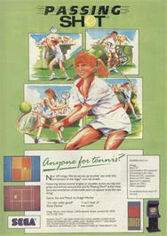 Advert for Passing Shot on the Sinclair ZX Spectrum.