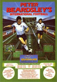 Advert for Peter Beardsley's International Football on the Sinclair ZX Spectrum.
