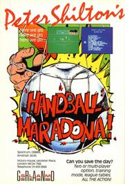 Advert for Peter Shilton's Handball Maradona! on the Sinclair ZX Spectrum.