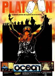 Advert for Platoon on the Sinclair ZX Spectrum.