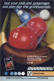 Advert for Pool on the Sinclair ZX Spectrum.