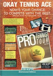 Advert for Pro Tennis Simulator on the Sinclair ZX Spectrum.