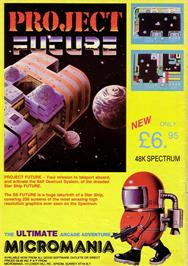 Advert for Project Future on the Sinclair ZX Spectrum.