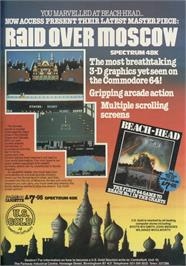 Advert for Raid Over Moscow on the Sinclair ZX Spectrum.