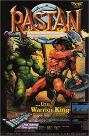Advert for Rastan on the Sinclair ZX Spectrum.