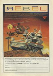 Advert for Rebel on the Sinclair ZX Spectrum.