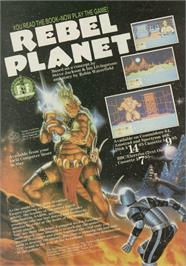 Advert for Rebel Planet on the Sinclair ZX Spectrum.
