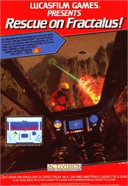 Advert for Rescue on Fractalus! on the Sinclair ZX Spectrum.