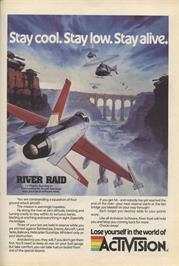 Advert for River Raid on the Sinclair ZX Spectrum.