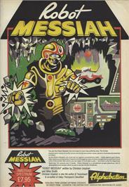 Advert for Robot Messiah on the Sinclair ZX Spectrum.