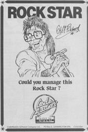 Advert for Rock Star Ate My Hamster on the Commodore 64.