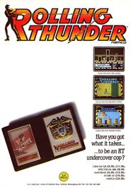 Advert for Rolling Thunder on the Sinclair ZX Spectrum.