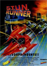 Advert for S.T.U.N. Runner on the Sinclair ZX Spectrum.