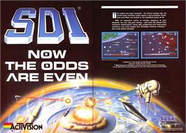 Advert for SDI: Strategic Defense Initiative on the Sinclair ZX Spectrum.