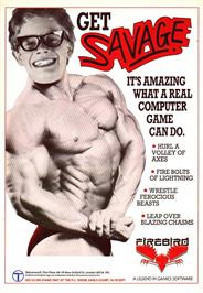 Advert for Savage on the Sinclair ZX Spectrum.