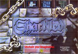 Advert for Shackled on the Sinclair ZX Spectrum.