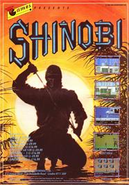 Advert for Shinobi on the Sinclair ZX Spectrum.