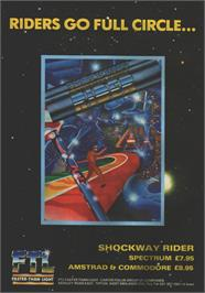 Advert for Shockway Rider on the Sinclair ZX Spectrum.